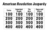 American Revolution Jeopardy