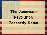 American Revolution Jeopardy Game