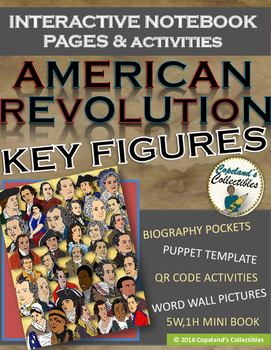 American Revolution Key Figures Interactive Notebook Pages and Activities