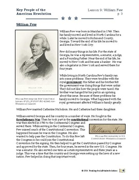 American Revolution - Key People Lesson 9 - William Few