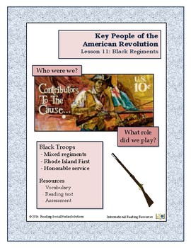 American Revolution - Key People Lesson 11 - Black Regiments