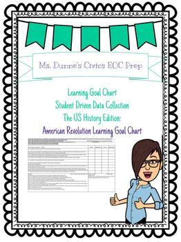 American Revolution Learning Goal Chart