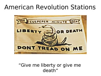 American Revolution Learning Stations