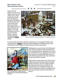 Revolutionary War - Key People - Unit 4