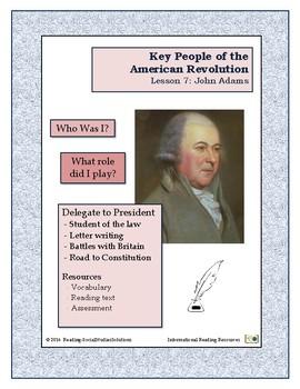 American Revolution - Key People Lesson 7 - John Adams