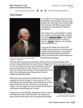 American Revolution - Key People Lesson 7 - John Adams