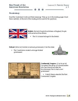 American Revolution - Key People Lesson 6 - Patrick Henry