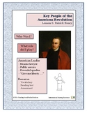 American Revolution - Key People Lesson 6 - Patrick Henry
