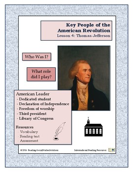 American Revolution - Key People Lesson 4 - Thomas Jefferson