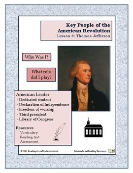 American Revolution - Key People Lesson 4 - Thomas Jefferson