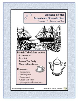 American Revolution - Causes Lesson 3 - Tax on Tea