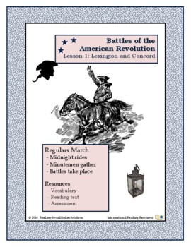 American Revolution - Battles  Lesson 1 - Lexington