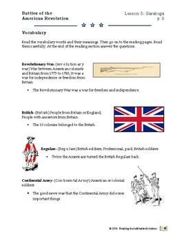 American Revolution - Battles  Lesson 5 - Saratoga