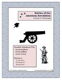 Saratoga - Revolutionary War Battles - Lesson 5