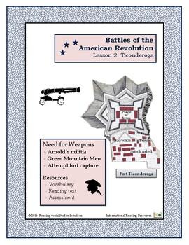 American Revolution - Battles  Lesson 2 - Ticonderoga
