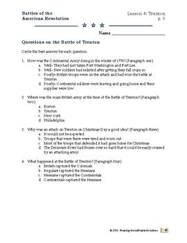 American Revolution - Battles  Lesson 4 - Trenton