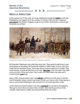 American Revolution - Battles Lesson 6 - Valley Forge