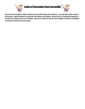 American Revolution - Letter of Surrender at Yorktown