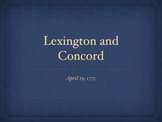 American Revolution Lexington and Concord QT Slideshow