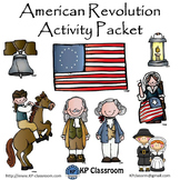 American Revolution Activity Packet Printable Worksheets