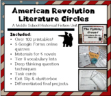 American Revolution Literature Circles ; middle school ; differentiated ; bundle