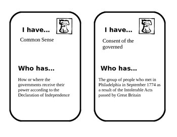 American Revolution Looping Cards