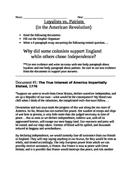 American revolution thesis paper
