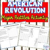 American Revolution Major Battles Graphic Organizer Review