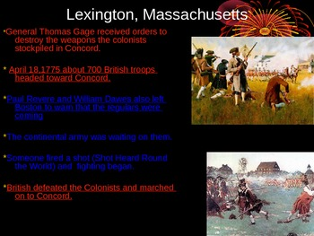 American Revolution Major Land Battles PowerPoint
