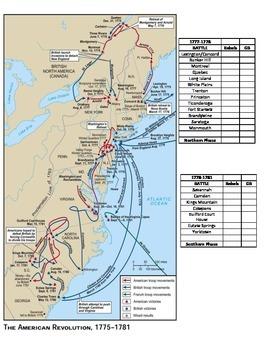 American Revolution Map
