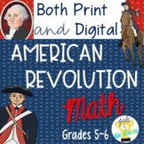 American Revolution Print & Digital Math Activities Distan