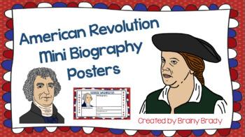 American Revolution Mini Biography Posters