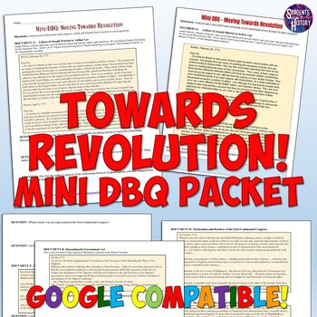 American Revolution Mini-DBQ Worksheet