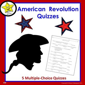 American Revolution Multiple-Choice Quizzes
