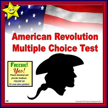American Revolution Multiple Choice Test