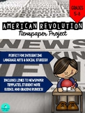 American Revolution Newspaper PROJECT!!