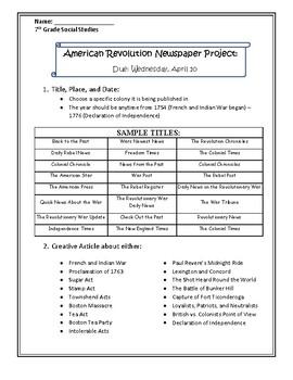 American Revolution Newspaper Project