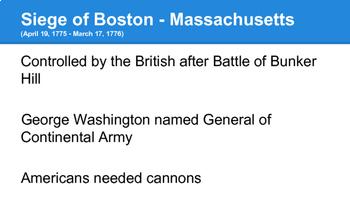 American Revolution - Northern Battles