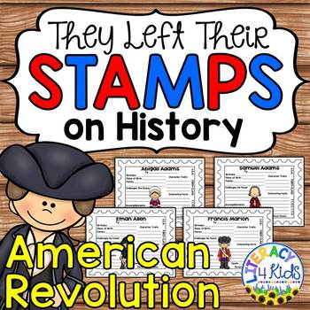 American Revolution Notable Figures Research Templates for Grades 3-5