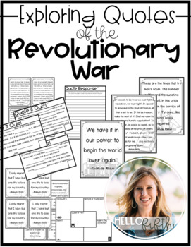 American Revolution Notable Quotes and Quizzes