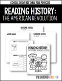 American Revolution Note Packet : Distance Learning (Googl