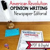 American Revolution Opinion Writing Unit: Patriots or Loyalists?