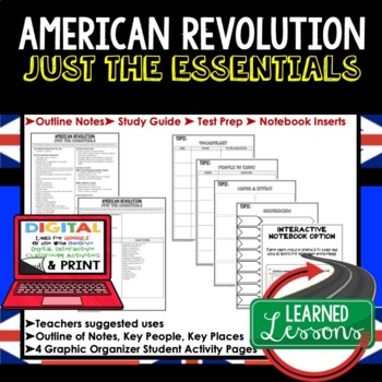 American Revolution Outline Notes JUST THE ESSENTIALS (Ame