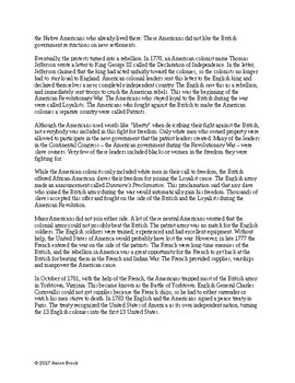American Revolution Overview Texts