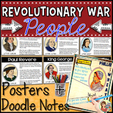 American Revolution PEOPLE Powerpoint Posters & Doodle Notes