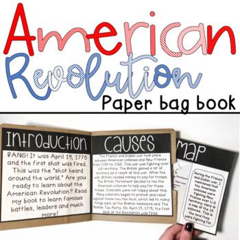 American Revolution Paper Bag Book