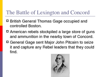 American Revolution Part Two - War for Independence