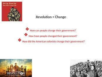 American Revolution, Peaceful Revolution, and Non-Violent Revolution