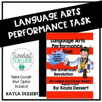 American Revolution Performance Task