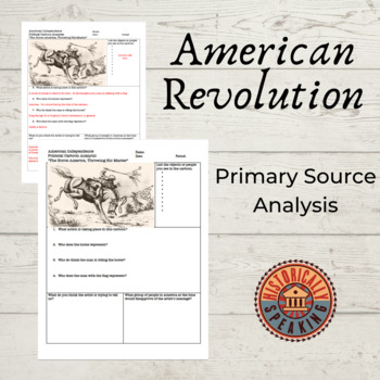 American Revolution - Declaration of Independence: Political Cartoon Analysis